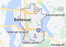Map of Bellevue, Washington