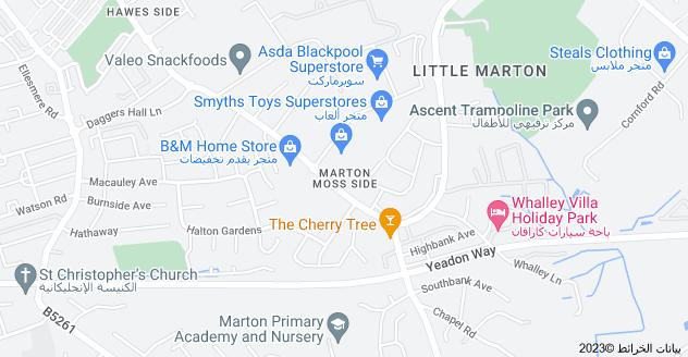 Location of Marton Moss Side