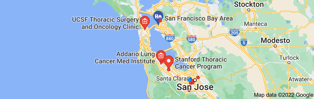 Map of bay area lung cancer doctors