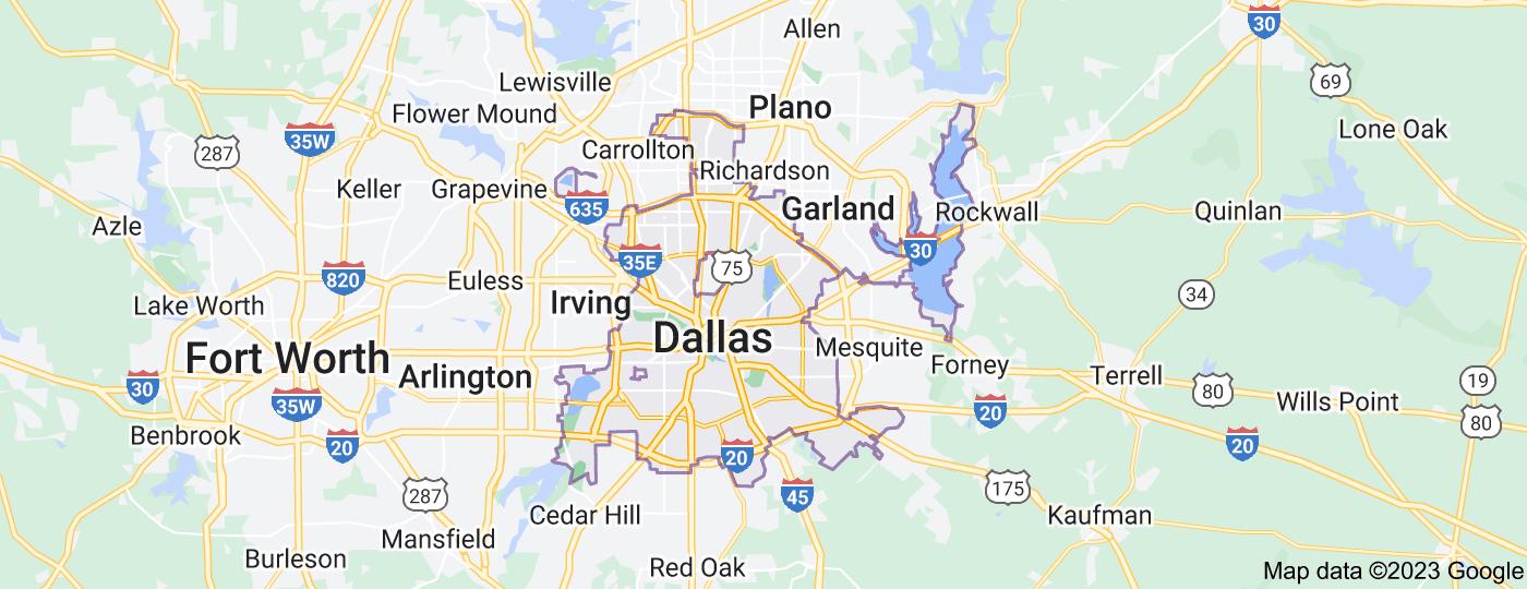Location of Dallas