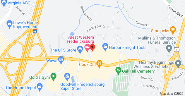 Map of 600 Westwood Office Park, Fredericksburg, VA 22401