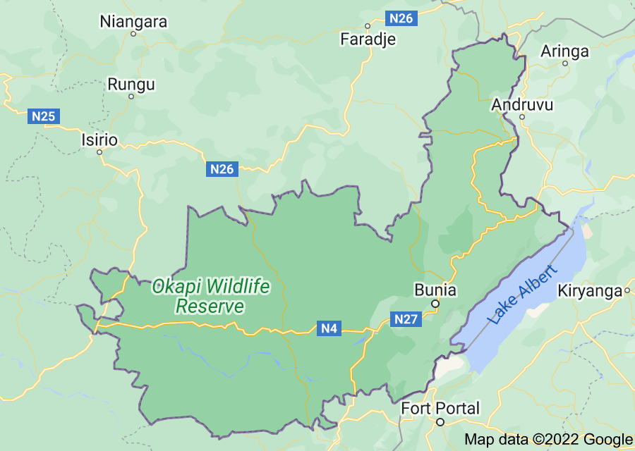 Location of Ituri