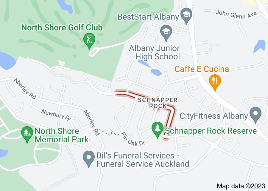 Location of Laurel Oak Drive