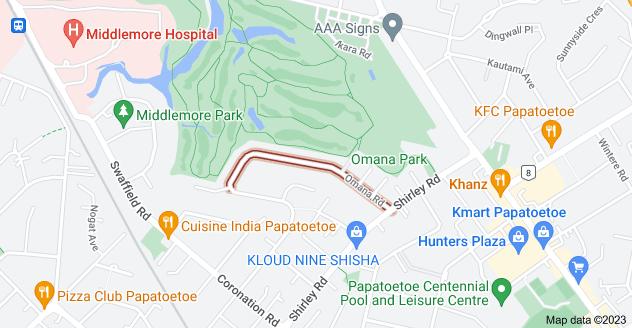 Location of Omana Road