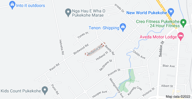 Location of Windmill Road