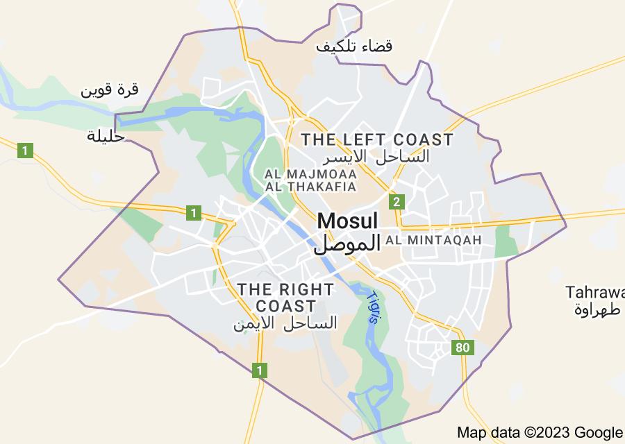 Location of Mosul