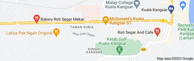 Map of roti segar kuala kangsar
