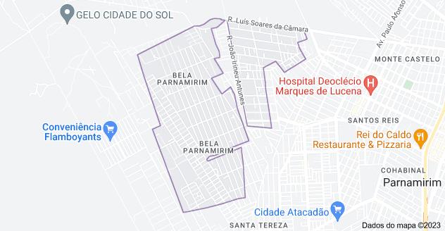 Mapa de Bela Parnamirim, Parnamirim - RN