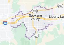 Map of Spokane Valley