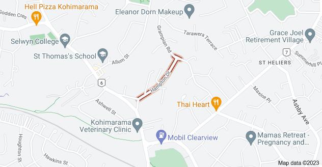 Location of Hampton Drive