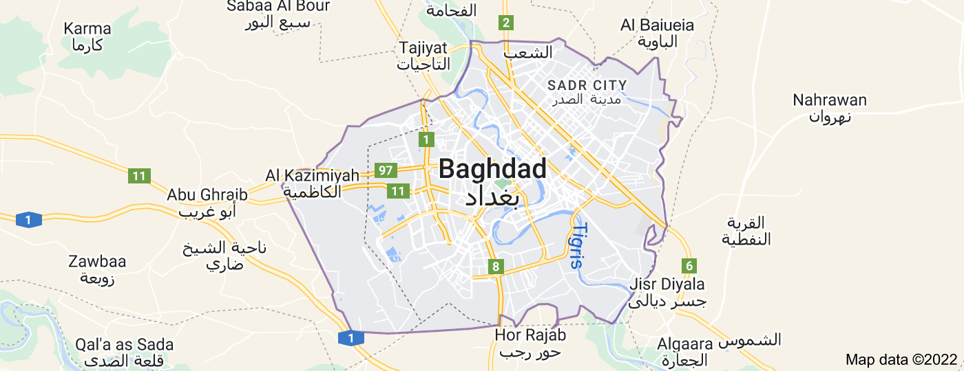 Location of Baghdad