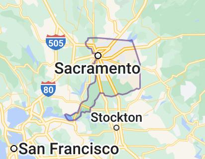 Map of Sacramento County