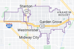 Map of Garden Grove, California