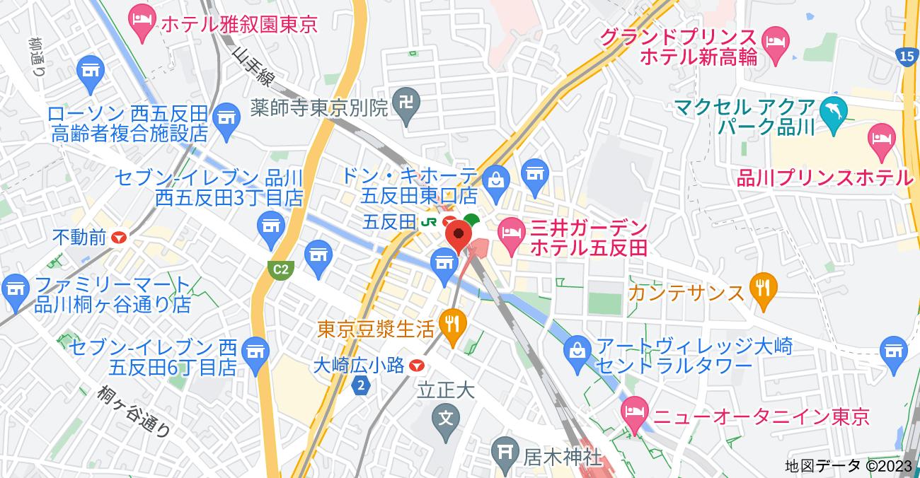 〒141-0031 東京都品川区西五反田1丁目7−1の地図
