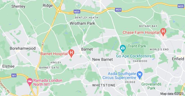 Map of Barnet