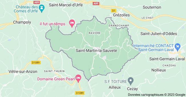 42260 Saint-Martin-la-Sauveté: carte