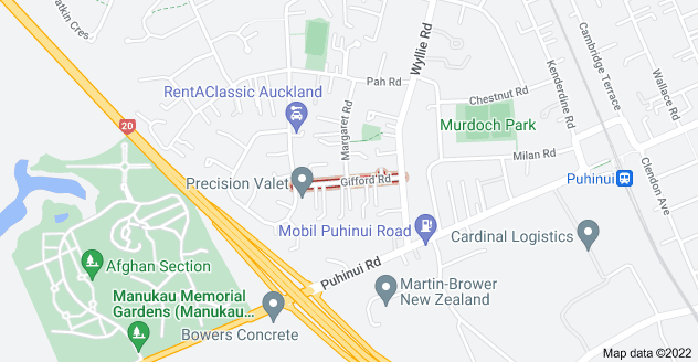 Location of Gifford Road
