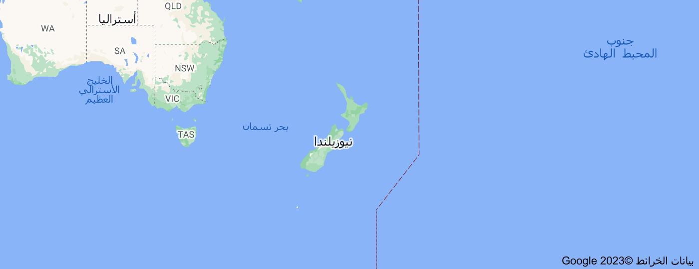 Location of نيوزيلندا