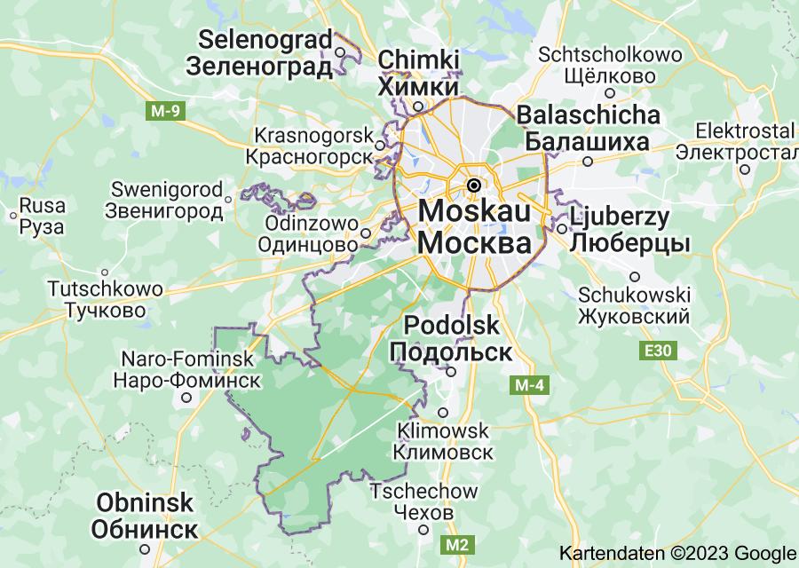 Location of Moskau