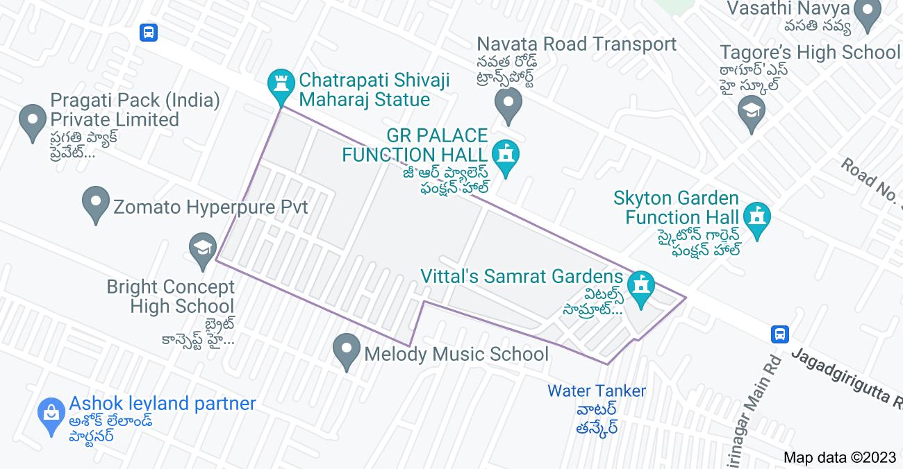 Map of Ranga Reddy Nagar, Chenna Reddy Nagar, Hyderabad, Telangana 500037, India