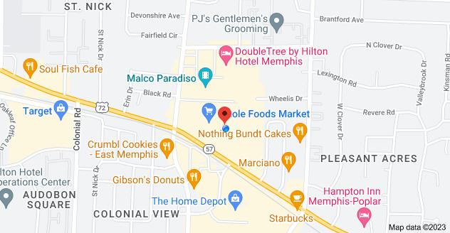 Map of 5050 Poplar Ave, Memphis, TN 38137