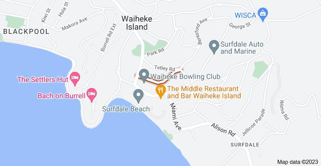 Location of Marama Avenue