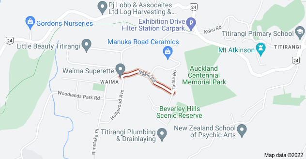Location of Ngaio Road
