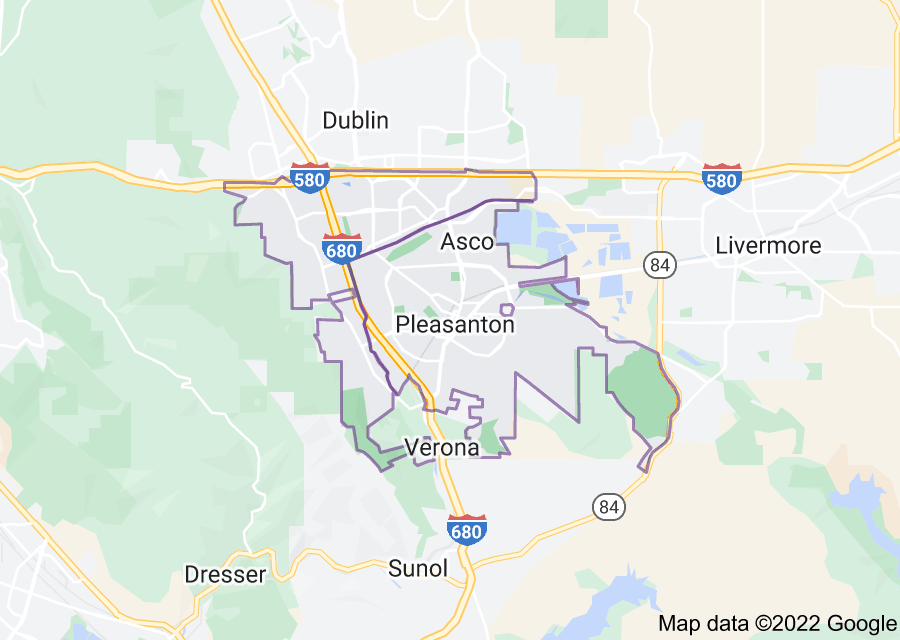 Location of Pleasanton