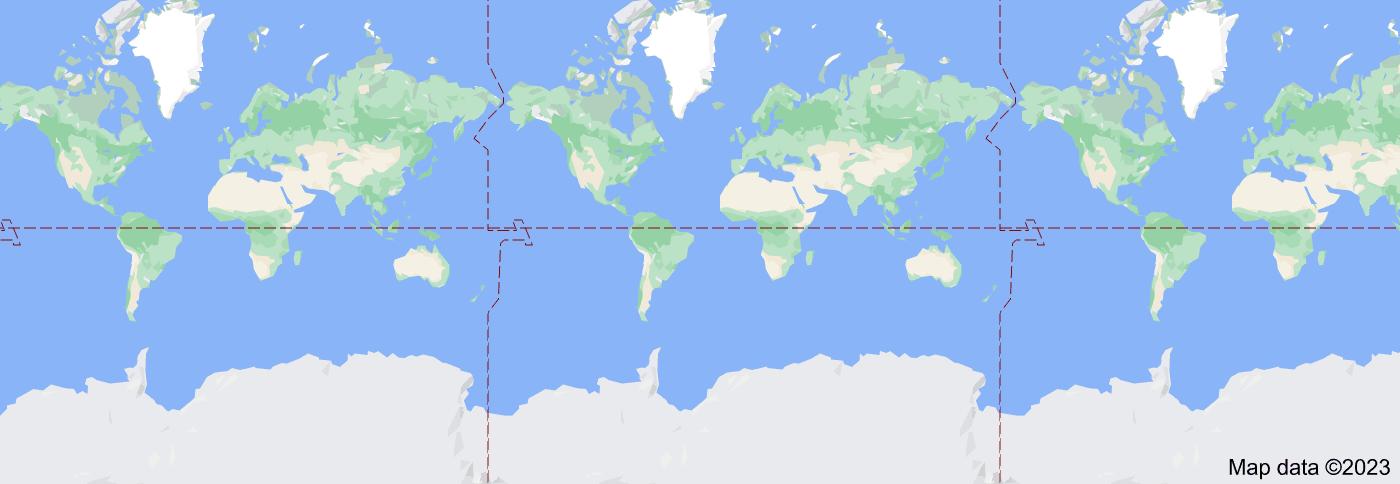 Location of Atlantic Ocean