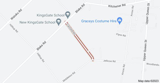 Location of Calcutta Road