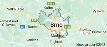 Mapa oblasti Brno