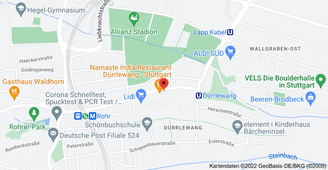 Karte von Osterbronnstraße 64A, 70565 Stuttgart