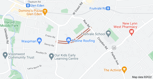 Location of Eastglen Road