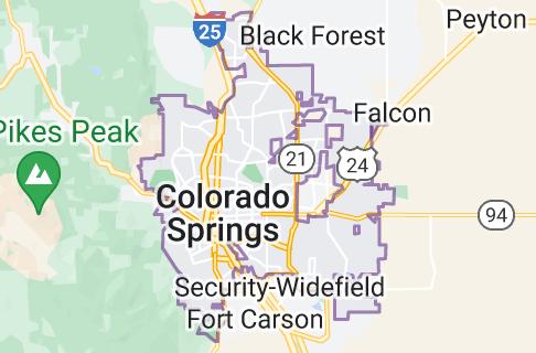 Mapa: Colorado Springs
