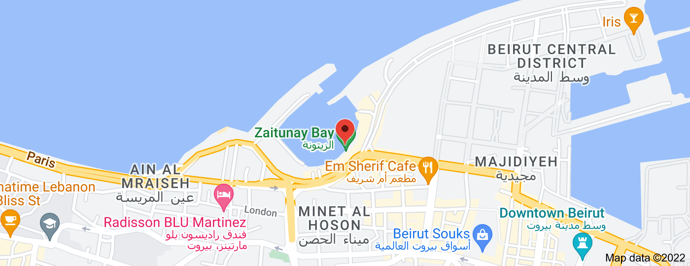 Location of Zaitunay Bay