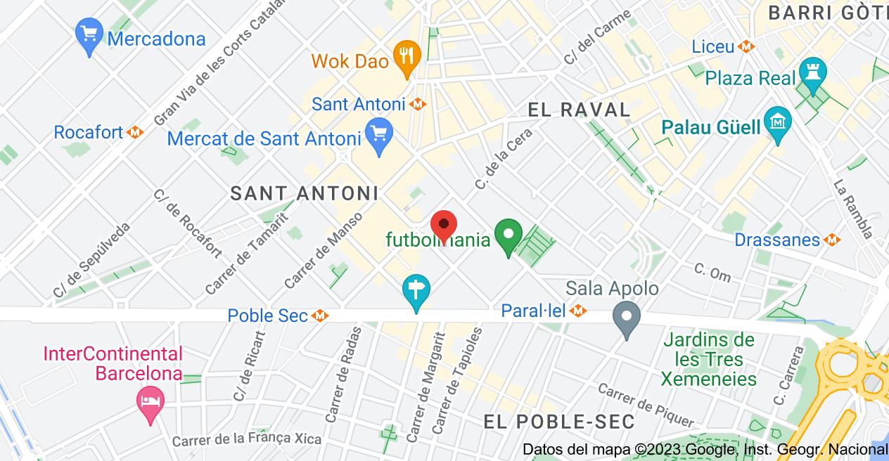 Mapa de Calle del Conde Borrell, 20, 08015 Barcelona