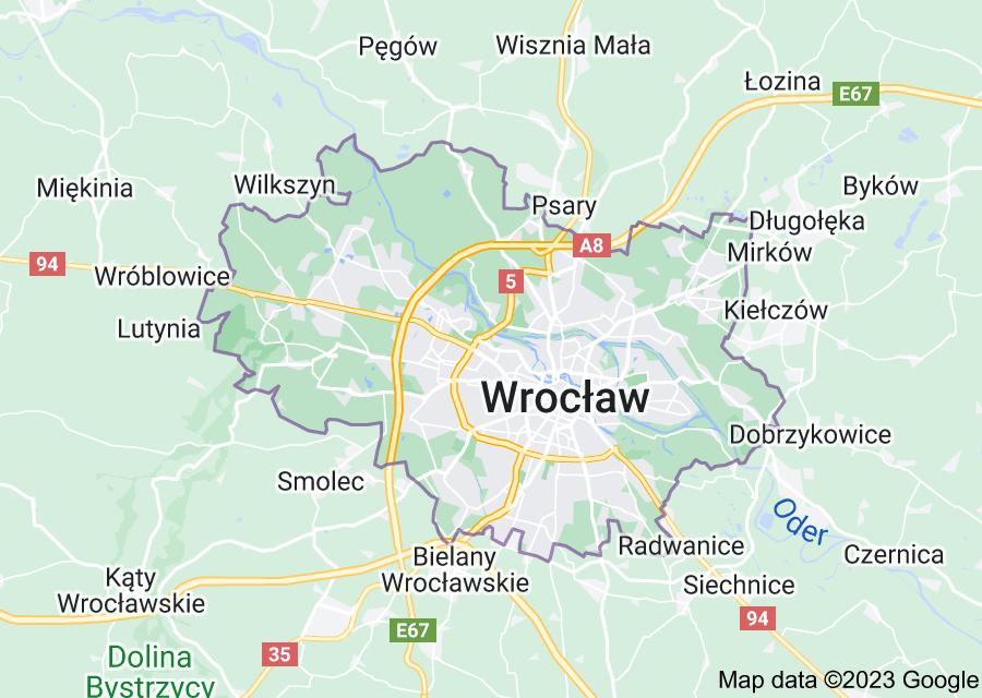 Location of Wrocław