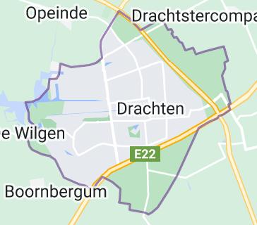 Map of Drachten
