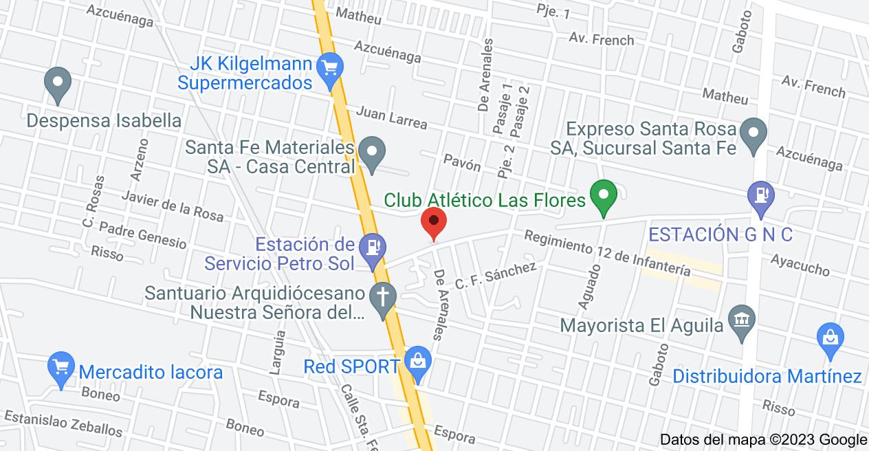 Mapa de Arenales 10100, Santa Fe