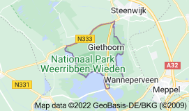 Map of Giethoorn Netherlands