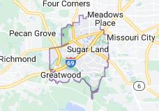 Map of Sugar Land, Texas