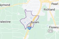 Map of Byram, Mississippi