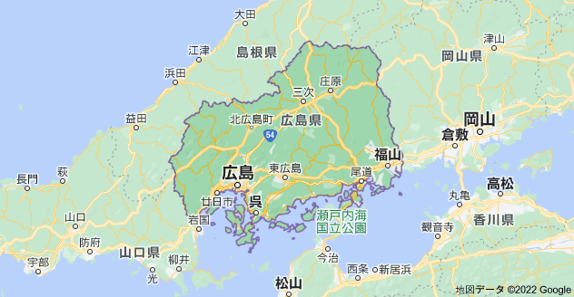 広島県の地図