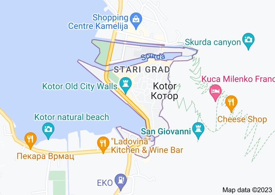 Location of Kotor