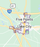 Map of Lake City, Florida