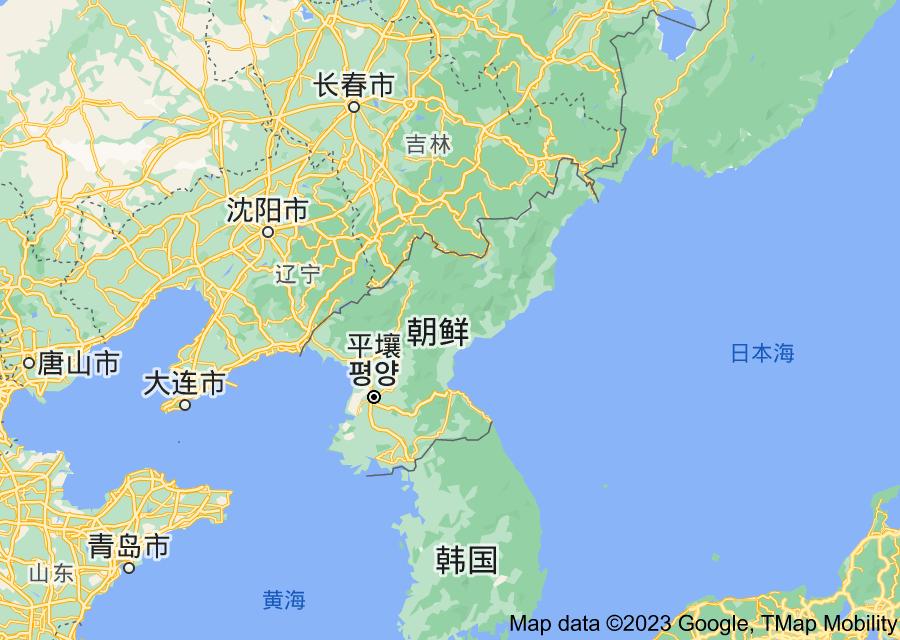 Location of 朝鲜民主主义人民共和国