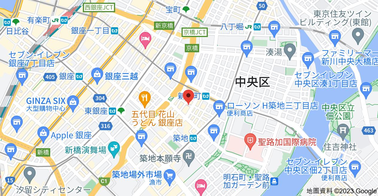 日本〒104-0045 Tōkyō-to, Chuo City, Tsukiji, 1-chōme−4−3 ファミール東銀座グランスイートタワー地圖