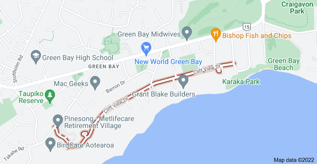 Location of Cliff View Drive