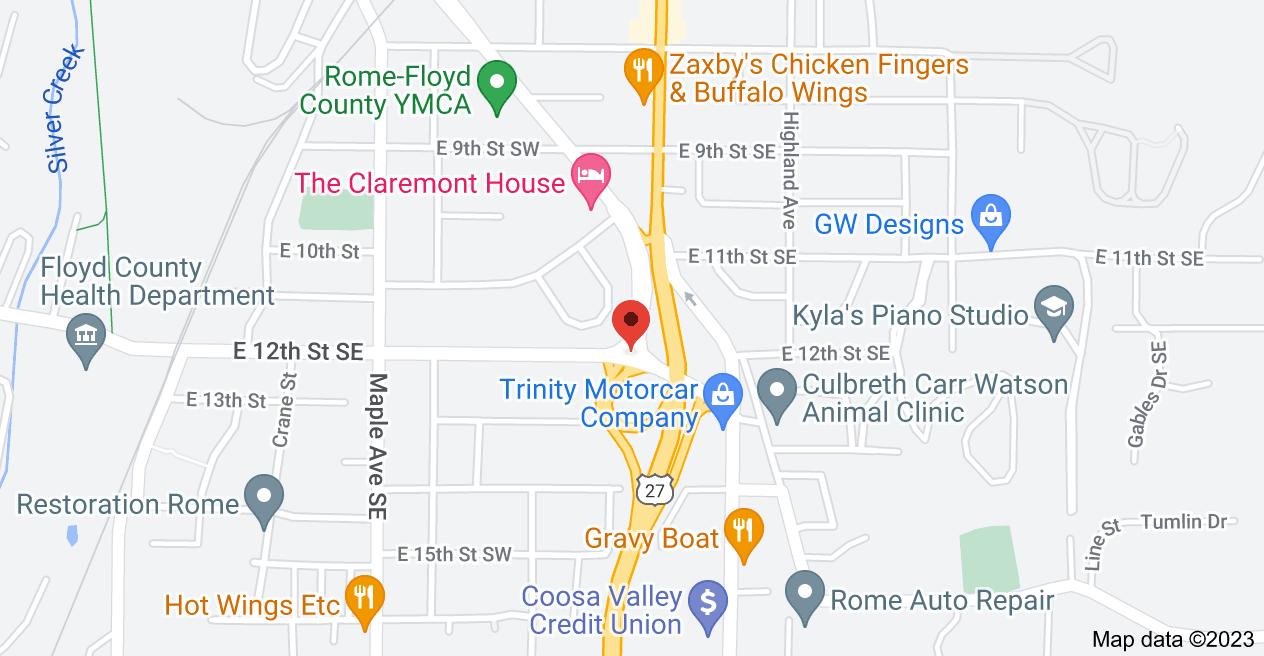 Map of East 12th Street Southeast & East 2nd avenue, Rome, GA 30161