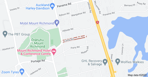 Location of Camp Road